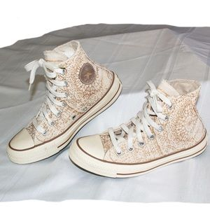Converse ☆ All Star White&Gold